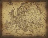 Mapa antigo de Europa Fotos de Stock