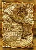 Mapa antigo de Grunge imagens de stock royalty free
