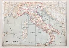 Mapa antigo de Italy fotografia de stock