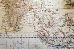 Mapa antigo de 3Sudeste Asiático Foto de Stock
