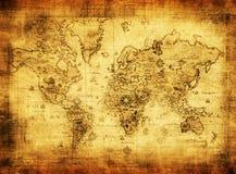 Mapa antigo do mundo Fotos de Stock Royalty Free