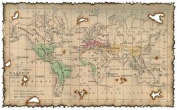 Mapa antigo do mundo Foto de Stock Royalty Free