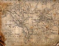 Mapa antigo do mundo. Imagens de Stock Royalty Free