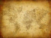 Mapa antigo do mundo Imagens de Stock Royalty Free