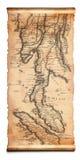 Mapa antigo do rolo Imagens de Stock