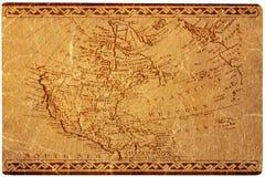 Mapa antigo dos EUA Fotos de Stock Royalty Free