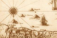 Mapa antigo (fragmento) Fotografia de Stock