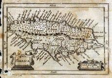 Mapa antigo Jamaica da velocidade de 1635 John Foto de Stock Royalty Free
