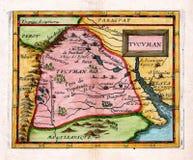Mapa antigo Tucuman Argentina de 1685 Duval Fotos de Stock Royalty Free