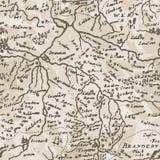 Mapa antigo (vetor w sem emenda Foto de Stock Royalty Free
