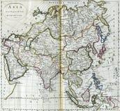 Mapa antiguo de Asia Imagenes de archivo