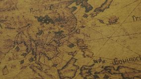 Mapa antiguo de los continentes de Asia metrajes