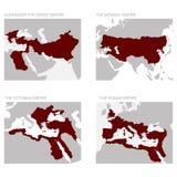 mapa Antyczni imperia royalty ilustracja