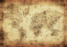 mapa antyczny świat Obrazy Royalty Free