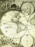 mapa antykwarski stary świat Obraz Stock