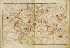 mapa antykwarski świat Obraz Royalty Free
