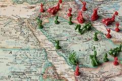 Mapa Arabia Saudyjska i otaczający obszary zdjęcie stock