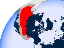 Mapa Argentyna w czerwieni ilustracji