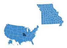 Mapa Arkansas stan royalty ilustracja