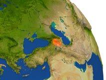 Mapa Armenia w czerwieni ilustracja wektor