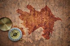 Mapa Azerbaijan na starym rocznika pęknięcia papierze Zdjęcia Royalty Free