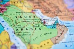 Mapa Azja, Arabia Saudyjska zdjęcia stock