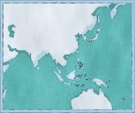 Mapa Azja Południowo-Wschodnia, rysujący obrazkowi muśnięć uderzenia, geographical mapa, physics Kartografia, geographical atlant royalty ilustracja