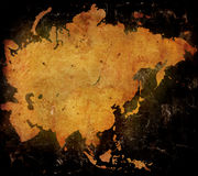 mapa azji Obraz Stock