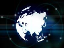 mapa azji Zdjęcie Stock