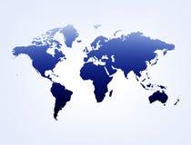 Mapa azul & branco Fotografia de Stock