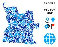 Mapa azul de Angola del triángulo libre illustration