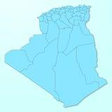 Mapa azul de República dos Camarões no fundo degradado ilustração royalty free