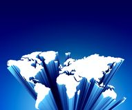 mapa błękitny świat ilustracja wektor