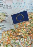 mapa bandery Zdjęcie Stock