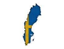 mapa bandery Szwecji Obrazy Stock