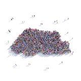 Mapa Bhután de la forma del grupo de la gente Fotos de archivo