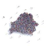 Mapa Bielorrússia da forma do grupo dos povos Fotos de Stock