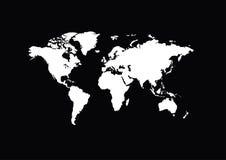 Mapa branco do mundo ilustração royalty free
