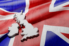 Mapa britânico ilustração royalty free