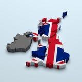 Mapa britânico ilustração do vetor