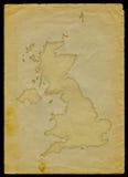 Mapa BRITÂNICO no papel velho II Fotografia de Stock