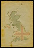 Mapa BRITÂNICO no papel velho mim ilustração do vetor