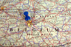 Mapa Bruxelles w Belgia Zdjęcie Royalty Free