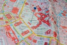 Mapa céntrico de Viena imagen de archivo libre de regalías