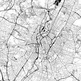 Mapa céntrico del vector de Leicester