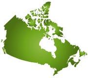 Mapa Canadá Fotos de Stock