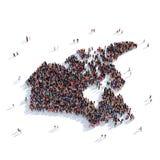 Mapa Canadá da forma do grupo dos povos Foto de Stock