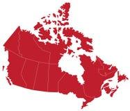 Mapa canadense Fotos de Stock Royalty Free