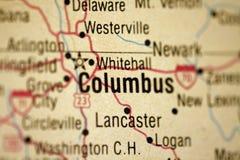 mapa columbus w Ohio Obrazy Stock