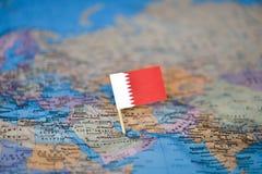 Mapa com a bandeira de Bar?m fotografia de stock royalty free